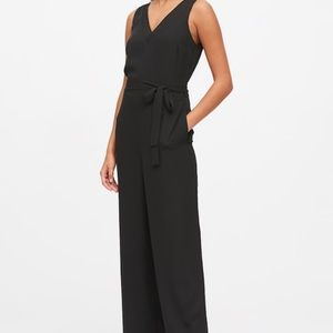 Banana Republic Wide Leg Navy Jumpsuit